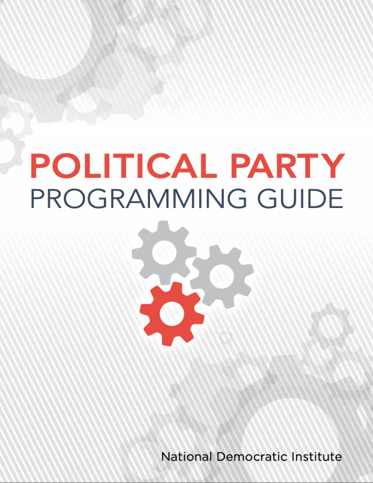 POLITICAL PARTY PROGRAMMING GUIDE