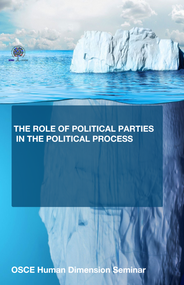 THE ROLE OF POLITICAL PARTIES IN THE POLITICAL PROCESS